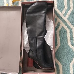Franco Sarto Black leather Over the Knee boots